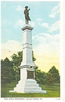 Valley Forge,PA New Jersey Monument Postcard