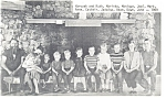 Click here to enlarge image and see more about item p9960: Interesting Family Portrait, with ten children 1969