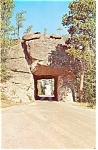 Mt Rushmore,SD, Seen Thru Road Tunnel Postcard