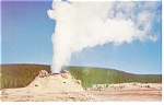 Yellowstone National Park WY Castle Geyser Postcard p9964