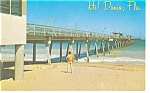 Dania FL Fishing Pier Postcard p9979