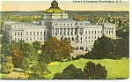 Washington DC Library Of Congress Postcard 1912