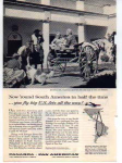 Click here to enlarge image and see more about item panam07: Panagra US Jets Jaunting Cart Ad panam07