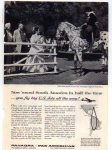 Click here to enlarge image and see more about item panam08: Panagra US Jets Polka Dot Parade Horse Ad panam08