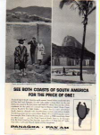 Click here to enlarge image and see more about item panam11: Panagra Both Coasts of South America Ad panam11