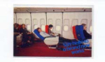 Click here to enlarge image and see more about item panam21: Pam Am Postcard Cabin View panam21