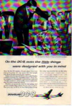 Click here to enlarge image and see more about item planes01: Douglas DC-8 Jetliner Little Things Ad
