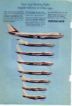 Click here to enlarge image and see more about item planes09: Boeing Family of Jetliners Ad