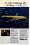 Click here to enlarge image and see more about item planes13: Boeing 737 Short-range Jet Ad planes13