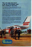 Click here to enlarge image and see more about item planes16: Beechcraft Queen Air Ad planes16