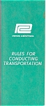 Click here to enlarge image and see more about item rr0001: Penn Central Rules Book rr0001