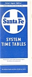 Click here to enlarge image and see more about item rr0015: Santa Fe Railroad Ticket Agent Time Table 1960