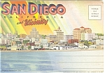 Click here to enlarge image and see more about item sf0055: San Diego CA Linen  Souvenir Folder sf0055