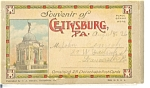Click here to enlarge image and see more about item sf0097: Gettysburg PA Souvenir Folder Postcards
