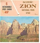 Zion Park Utah Souvenir Folder Postcards