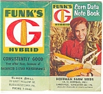 Click here to enlarge image and see more about item sf0101: Funks Hybid Corn Data Note Book sf0101