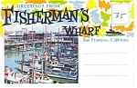 Fisherman's Wharf, San Francisco, CA, Souvenir Folder