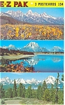 Click here to enlarge image and see more about item sf0138: Grand Teton  National Park Wyoming WY Postcards sf0138