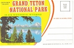 Click here to enlarge image and see more about item sf0140: Grand Teton National Park WY Souvenir Folder sf0140
