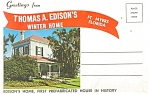 Ft Myers  FL Thomas A Edison s Home Folder sf0159