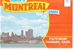 Montreal Canada Panoramic Souvenir Folder