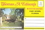 Edison Winter Home Fort Myers FL Souvenir Folder sf0169