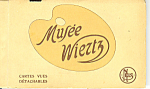 Click here to enlarge image and see more about item sf0246: Musee Wiertz, Belgium Vintage Souvenir Folder
