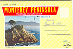 Click here to enlarge image and see more about item sf0272: Montery Peninsula, California Souvenir Folder sf0272