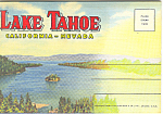 Click here to enlarge image and see more about item sf0290: Lake Tahoe California  Souvenir Folder