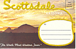 Click here to enlarge image and see more about item sf0298: Scottsdale, Arizona Souvenir Folder Cars 60s