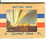 Dayton,Ohio, Linen Souvenir Folder