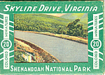 Skyline Drive Virginia Linen Souvenir Folder sf0306