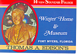 Click here to enlarge image and see more about item sf0324: Edison Winter Home and Museum Souvenir Folder sf0324