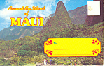 Around the World of Maui, Hawaii Souvenir Folder