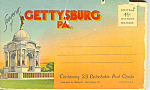 Gettysburg Pennsylvania Souvenir Folder of Postcard sf0365