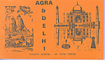 Click here to enlarge image and see more about item sf0418: Colour Album of Views of Agra and Delhi India Souvenir Folder  sf0418