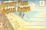 Asbury Park Ocean Grove NJ Souvenir Folder sf0428