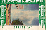 Colored Minitures of Yellowstone National Park WY Souvenir Folder  sf0436