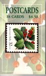 Book of 18 American Holly Stamp Postcards