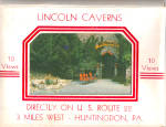 Lincoln Caverns Pennsylvania Souvenir Folder sf0574