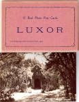 Real Photo Post Cards of Luxor Egypt Souvenir Folder  sf122