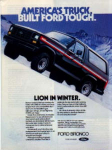 Click here to enlarge image and see more about item sm028202: Ford Bronco Ad Feb 1982 sm028202