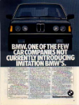 Click here to enlarge image and see more about item sm028203: BMW 320i Ad Feb 1982 sm028203