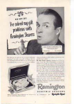 Click here to enlarge image and see more about item sm028214: Remington Shavers Bob Hope Ad 1940s