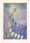Click here to enlarge image and see more about item sm028215: Wallace Sterling Tableware Ad 1948
