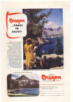 Oregon Tourist Ad 1940s Crater Lake