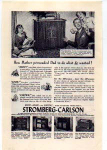 Click here to enlarge image and see more about item sm028221: Stromberg-Carlson Radio Phonograph Ad 1940s