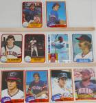 Click here to enlarge image and see more about item SP0004: 1980s Donrus Topps Fleer Cleveland Indians Lot of Ten SP0004
