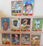 Click here to enlarge image and see more about item SP0006: 1980s Donrus Topps Bowman Milwaukee Brewers  Lot of Ten SP0006