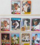 Click here to enlarge image and see more about item SP0008: 1980s Donrus Topps Pee Chee Detroit Tigers Lot of Ten SP0008